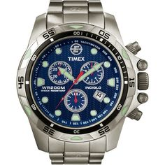 Timex Men's Expedition Dive Style Chronograph Watch, Silver-Tone Bracelet