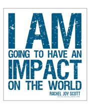 Rachel Scott. First person killed in the columbine shooting. This is her challenge. Rachel's challenge.