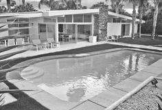 Mid century modern patio and pool