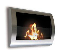 Chelsea Stainless Steel Indoor Fireplace