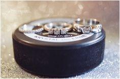 Hockey anyone ?   ツ    LA Kings styled wedding // Sun & Sparrow Photography  || Black + White #hockey