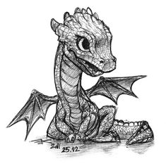 Small dragon by black-griffel -- i always told aj that as we had children i would add them to my tattoo... now to find the perfect little dragon for my perfect little boy.