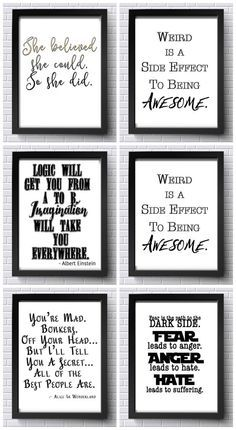 Beautiful Free Printable Wall Art Quotes Inspirational wall prints Find the Perfect Canvas Wall Arts for Your Room Apartment Decorating On A Budget, Free Prints, Wall Prints, Lettering, Wall Art Quotes, Printable Wall Art, Printable Frames, Free Printables, Free Printable Quotes