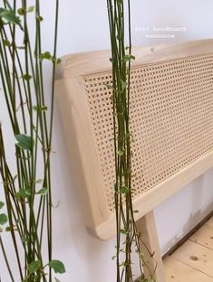 Diy Bed Headboard, Headboards For Beds, Rattan Furniture, Diy Furniture, Easy Sewing Projects, Diy Projects, Small Space Living, Living Spaces, My Room