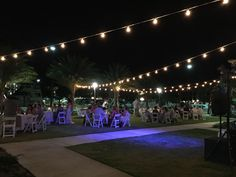 Bistro String Lighting is always a nice accent to any event. #StringLighting #SpecialEvent #Wedding #Reception #Outdoors