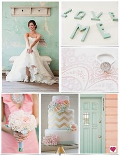 The cake!  mint and gold wedding ideas