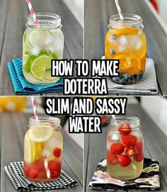 @Thm4life  Add 4-6 drops of doTERRA Slim Sassy essential oil to your fruit-infused water (you can also add to plain water). Drink between your healthy meals throughout the day to help manage hunger, calm your stomach, detox your body and lift your mood!