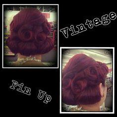 Vintage Pin Up Hair