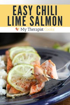 Chili Lime Salmon With Honey is a DELICIOUS version of my best ever cast iron skillet salmon. Just 6 ingredients, 15 minutes, and gluten free, dairy free salmon dinner can be yours! #dairyfree #glutenfree #salmon #salmonrecipe #chili #lime #spicy #sweetandspicy