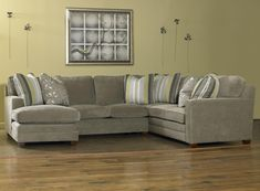 Contemporary Three Piece Sectional Sofa w/ LAF Chaise