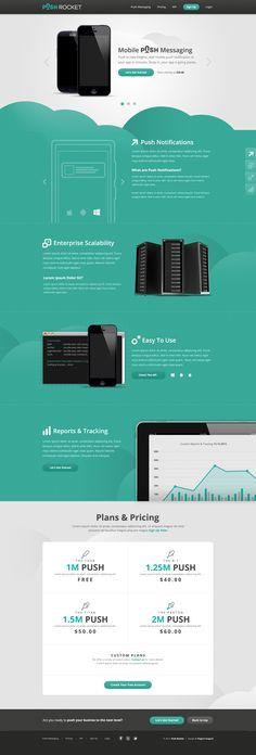 Unique Web Design on the Internet, Push Rocket #webdesign #websitedesign #website #design http://www.pinterest.com/aldenchong/