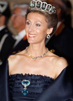 Queen Victoria Eugenia's Aquamarine Tiara from Spanish jewelers Ansorena.