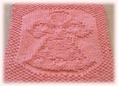 Angel Of Love pattern by Lisa Vienneau Knitted Dishcloth Patterns Free, Knitted Washcloths, Knit Dishcloth, Knit Patterns, Stitch Patterns, Christmas Crochet Patterns, Christmas Knitting, Crochet Christmas, Knitting Stitches
