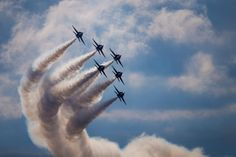 Pilots with the Navy's Blue Angels demonstrate their precision Friday, Sept. 18, 2015 during practice for the Oceana Naval Air Station air show in Virginia Beach. (Hyunsoo Leo Kim | The Virginian-Pilot)
