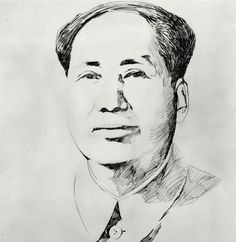Portrait of Mao by Andy Warhol, Stock Photo Art Andy Warhol, Magritte, Centre Pompidou Paris, Picasso, Unique Drawings, Art Moderne, Museum Collection, Royalty Free Images, Photo Art