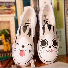 f9adf39c3 Cute Cat Loafer – FreakyPet Katzenschuhe, Bemalte Schuhe, Katzenliebhaber,  Niedlichen Katzen, Totoro