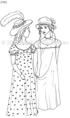 1795 Dressing Up Through History Coloring Page