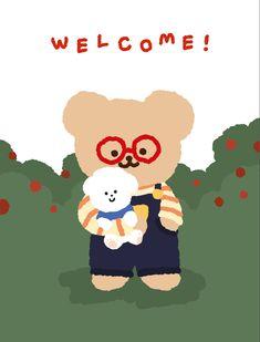 Kawaii Illustration, Homescreen, Cute Drawings, Luigi, Wallpaper Backgrounds, Bear, Fictional Characters, Beautiful Drawings, Bears