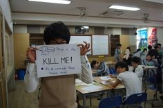Korean Students Speak Up With Written Signs