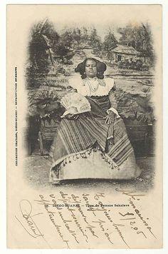 Queen Binao of the Sakalava kingdom, Diego Suarez (now Antsinarana) Madagascar;  photo c. 1904; she reigned 1895-1927