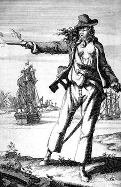 "Anne Bonny is remembered as one of the most famous female pirates who operated in the height of the notorious and today highly romanticized period known as ""Golden Age of Piracy"". During her short few years as a shipmate and lover of the pirate captain ""Calico Jack"" Rackham, Anne proved herself to be an equal to any other pirate - she worked, drunk and fought alongside her friends in the environment that was filled with the much larger pirate personalities."