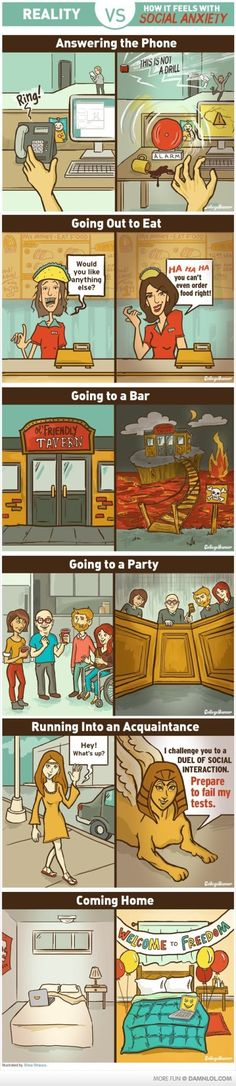 What The World Looks Like With Social Anxiety OMG YES...soooo true