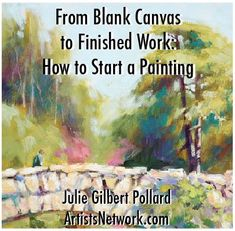 Julie makes oil painting for beginners easy! Love this 6-step demo on how to begin a painting. www.artistsnetwork.com #oil #painting #art