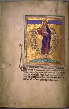The Aberdeen Bestiary - creation of waters and firmament