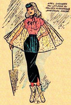 "Katy Keene  ""April Showers "" Doll paper house"