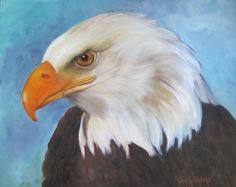 American Eagle Painting Large 16x20x1.5 Canvas by ChatterBoxArt