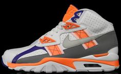 Nike Air Trainer SC | Light Zen Grey, Total Orange & Stealth