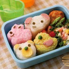 Japanese Bento Decoration Accessories Animal Shaped Rice Mold 4 Designs
