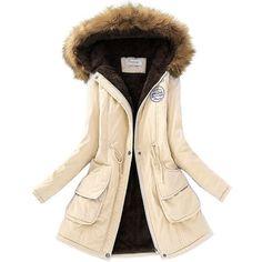 Warm Winter Jacket Women's Fur Collar Coats Jackets for Lady Long Slim Down Parka Hoodies