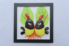 Chickens pebbles picture painted pebbles in by JenJenHouse on Etsy