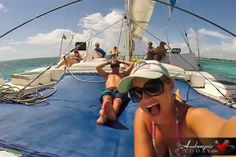 AHHHH! Selfie! So much fun sailing. I felt really bad when I found out our kids missed this activity.