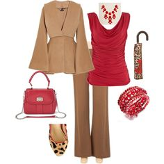 McQueen Kimono Coat, wow. I like this necklace, http://shop.stelladot.com/style/b2c_en_us/n219.html, with gold bangles & no silver chain on bag. Like the red, camel, gold vibe.