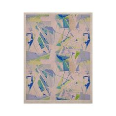"Kess InHouse Alison Coxon ""Shatter Blue"" KESS Naturals Canvas Art, 16 by 20-Inch, Geometrical, Blue/Yellow, http://www.amazon.com/dp/B00GHHGK3Q/ref=cm_sw_r_pi_awdm_e6cZsb15FHT79"