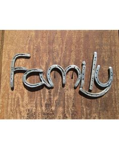 Family is a big part of life for everyone, whether they're under the same roof as you, or a state away. Get this wonderful horseshoe sign as a symbol of your family. This rustic piece of decor will add a great touch to any room of your house. Each piece is made with care by hand, and since every item made by Rustic and Country is cold hand forged, no two pieces are ever exactly alike. Disclaimer: as with any unfinished steel, this item will rust with continued exposure to moisture.