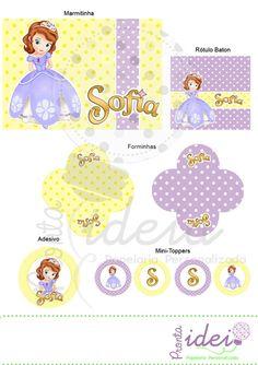Princesa Sofia - 5 Artes Personalizadas - Pronta Ideia