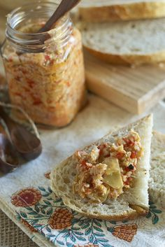 Roasted Red Pepper and Artichoke Tapenade.