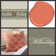 For #ColorFixFriday, our WILLIAMSBURG Tanjib Embroidery fabric by P/K Lifestyles paired with CW-300 Tucker Orange from our @benjamin_moore color collection. @pklpam