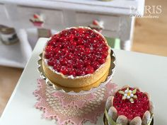Cherry Tart Tarte aux Cerises French Pastry by ParisMiniatures