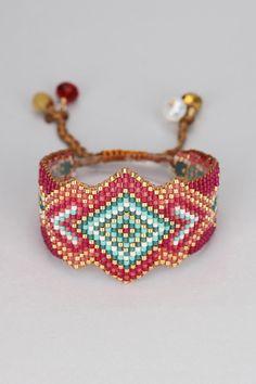 Bracelets - rocky-be-l-1877 - Red/Burgundy - Mishky