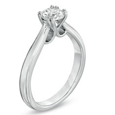 3/4 CT. Certified Canadian Diamond Solitaire Engagement Ring in 18K White Gold (I/SI2) - Zales