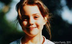 Kate Middleton aos cinco anos