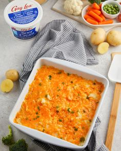 This may be cheesy, but we can't think of a better combo than potatoes, cheese, and Gay Lea Sour Cream! We recommend a big dish, so everyone gets seconds! 😋 Sour Cream, Macaroni And Cheese, Curry, Gay, Potatoes, Favorite Recipes, Dishes, Canning, Ethnic Recipes