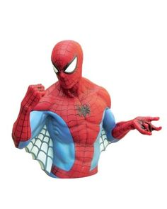 Spider-man Core Bust Bank  Marvel Spider-Man Bust Bank is ready to fight  evil and injustice! b3242a7c644f6