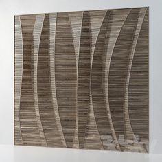 3d panel in wood