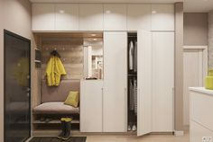 The Best 2019 Interior Design Trends - Interior Design Ideas Hall Wardrobe, Wardrobe Design Bedroom, Hallway Designs, Closet Designs, Room Interior, Interior Design Living Room, Flur Design, Hall Furniture, House Entrance