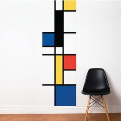 Mondrian wall decals by Lucie Gauthier